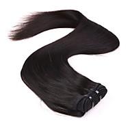 neitsi 14 '' παρθένο Μαλαισίας ίσια μαλλιά υφάδια φυσικό μαύρο 1b # φθηνά πακέτα ύφανσης remy ανθρώπινα μαλλιά κουβάρι δωρεάν
