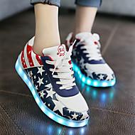 플랫-캐쥬얼-남여공용-신발에 불-PU-플랫-화이트