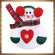 6db karácsony dekoráció szép hóember konyhai edények zsebbel vacsora evőeszköz táska party karácsonyi asztaldísz