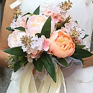 Wedding Flowers Round Peonies Bouquets Wedding / Party/ Evening Satin 10.24(Approx.26cm)