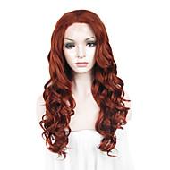 peluca de encaje Pelucas para mujeres Castaño rojizo Las pelucas del traje Pelucas de Cosplay