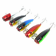 PVC-Package 5Pcs Laser-pro Top Water Floating Popper 7 cm/9 g 5 Colors For Bass Snakehead Catfish Fishing