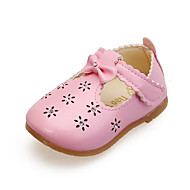 Girl's Flats Summer PU Casual Flat Heel Bowknot Pink Red White Other