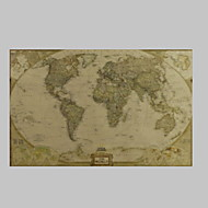 Decorative Painting Core Maps Canvas Print Giclee Print One Panel Matt Kraft Ready to Hang