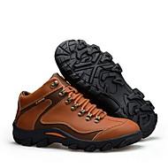 Herren-Sportschuhe-Outddor-Leder-Flacher Absatz-Flache Schuhe-Braun / Orange / Khaki