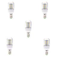 7W E14 Lâmpadas Espiga T 24 SMD 5730 580LM lm Branco Quente / Branco Frio Decorativa AC 220-240 V 5 pçs