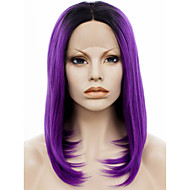 IMSTYLE 14Purple with Dark root Natural Looking Synthetic Wigs Lace Front