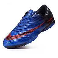 Boy's Sneakers Spring Fall Comfort PU Outdoor Athletic Flat Heel Studded Black Blue Yellow Orange Soccer