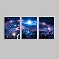Fantasia / Paisagem Impressão em tela 3 Painéis Pronto para pendurar , Vertical