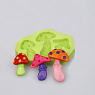 The three cavity mushroom shape mold for fondant cake cookie tools decoration baking ware food grade silicone mold