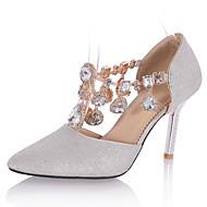 Magassarkú / Elől kivágott Lábujj / Hegyes orrú-Stiletto-Női cipő-Magassarkúak-Esküvői / Ruha / Party és Estélyi-Személyre szabott anyagok