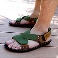 Men's Sandals Summer Sandals Canvas Casual Flat Heel Others Black / Green Others