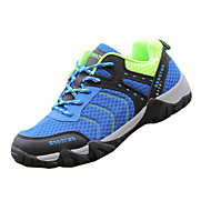 Muške Sneakers Udobne cipele Tkanina Proljeće Jesen Atletski Planinarenje Udobne cipele Vezanje Ravna potpetica žuta Sive boje Plava7 cm