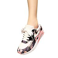 Women's Sneakers Fall / Winter Mary Jane / Tulle Casual Flat Heel Split Joint / Lace-up Black / Blue  / Walking