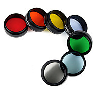 Newest 1.25 Eyepiece Filter Kit 6 Colored Planetary & 1 Moon Filters  Accessories for any 31.7mm Telescope