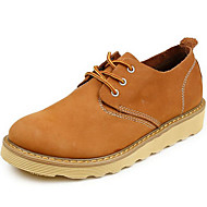 Women's Oxfords Spring / Summer / Fall / Winter Comfort Nappa Leather Athletic / Casual Flat Heel Lace-up Brown Sneaker
