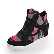 Damen-Sneaker-Outddor Lässig-Leinwand-Keilabsatz-Komfort-
