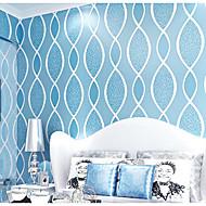 Damašek / secesní motiv / Jednolitý / 3D Tapety pro domácnost Moderní Wall Krycí , Netkaná textilie Materiál lepidlo požadováno tapeta ,