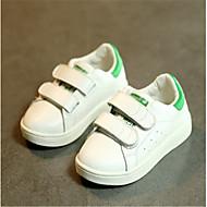 Per bambino-Sneakers-Casual-Ballerine-Piatto-Di pelle-Bianco