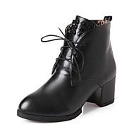 Dame-Syntetisk Lakklær Kunstlær-Lav hæl-Platå Ridestøvler Motestøvler Motorsykkelstøvler Combatstøvler Cowboystøvler Snøstøvler