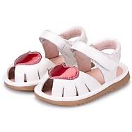 Sandály-mikrovlákno-Sandály-Dívčí-Černá / Bílá-Běžné-Plochá podrážka