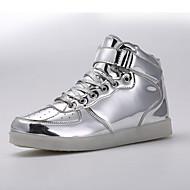 נשים-נעלי ספורט-עור פטנט-נוחות / מעוגל-כסוף / זהב-שטח / ספורט-עקב שטוח