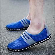 Loafers og Slip-ons-Tyl-Lukket tå-Herre-Sort / Blå / Grå-Hverdag-Flad hæl