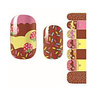 14Pcs/Sheet Nail Art Sticker 3D Nagelstickers Cartoon / Schattig make-up Cosmetische Nail Art Design