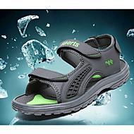 Herre-Syntetisk / Lin-Flat hæl-Sandaler-Sandaler-Friluft-Grønn / Grå / Marine