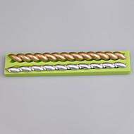 2 Cavity strip shape silicone mold for fondant cake decoration tools
