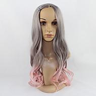 grises mezclados cuerpo de color rosa pelucas estilo de onda de la moda para las señoras europen y americanos