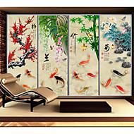 Træer/blade Moderne Vinduessticker,PVC/Vinyl Materiale Window Dekoration