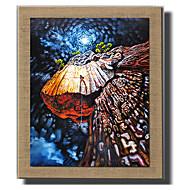Ręcznie malowane Streszczenie / Krajobraz / Ludzie / Kaprys Obrazy olejne,Nowoczesny / Fason europejski Jeden panel PłótnoHang-Malowane
