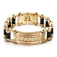 kalen® זהב דובאי 18k חדש מצופה צמיד קסם שרשרת הקישור נירוסטה 316L&צמיד עור אביזרי אופנה