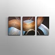 Pintados à mão Abstracto / Paisagem / Vida Imóvel / Fantasia Pinturas a óleo,Modern / Clássico / Estilo Europeu 3 Painéis Tela