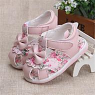 Sandály-PUDívčí-Růžová / Bílá-Outdoor / Běžné-Plochá podrážka