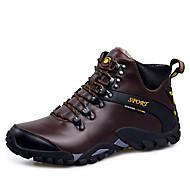 Atletik Ayakkabılar-Açık Hava-Yuvarlak Burun-Tüylü-Düz Topuk-Siyah / Kahverengi-Erkek