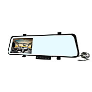 Car Before And After The Tachograph / Rearview Mirror Dual Lens Dual Record