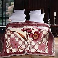 YuxinThickened Double Raschel Blankets Wedding Blanket Coral Fleece Blanket Winter Blanket  Bedding Set