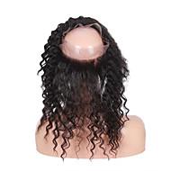Brazilian Virgin Human Hair 360 Lace Band Frontal Closures curly Ear To Ear 360 Lace Frontal Closures With Baby Hair
