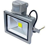 jiawen עמיד למים 20W מנורת אינדוקציה אור שיטפון 1800lm PIR חיישן תנועה הוביל (ac85-265v)