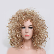 Blonde Color Kinky Curly Women Fashion European and American Synthetic Wigs