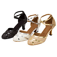 Customizable Women's Latin Ballroom Salsa Dance Shoes Sparkling Glitter Modern Sandals / Heels Customized