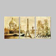 VISUAL STAR®Modern Paris Landscape Canvas Print For Home Decoration
