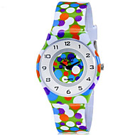 CAGARNY Kids' Wrist watch Colorful Quartz Plastic Band Dot Candy color Casual Cool Multi-Colored