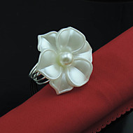 1pcs Lot Flower Napkin Rings Buckle Hoop Hotel Party Table Decoration Napkin Circle