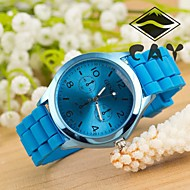 reloj mujer Geneve Brand Soft Silicone Strap Jelly Quartz Watch Wristwatches for Women Ladies Lovers Black White