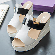 Women's Slippers & Flip-Flops Summer Platform Leatherette Casual Wedge Heel Others Black / White Others