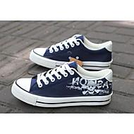 Heren Sneakers Zomer Comfortabel Kunstleer Buiten Platte hak Veters Zwart / Blauw / Wit Others