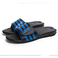 Γυναικεία παπούτσια-Σανδάλια-Καθημερινά-Επίπεδο Τακούνι-Παντόφλες-Προσαρμοσμένα Υλικά-Μπλε / Κίτρινο / Γκρι